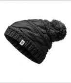 Bonnet femme Triple Cable noir The North Face