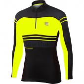 Sweat homme Squadra Race Top 0400835 jaune fluo noir Sportful