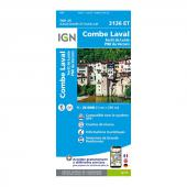 Carte IGN Top 25 Combe Laval 3136 ET