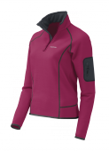 Pullover femme Pearl Polartec® Power stretch pro® Trangoworld ( Framboise )