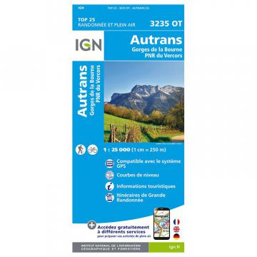 Carte IGN Autrans 3235 OT