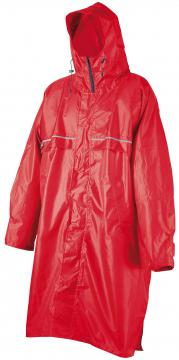 Poncho Rain Stop Cagoule Camp rouge