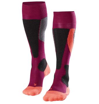 Chaussettes ski Falke SK4 Women - Berry Neon Red