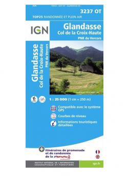 Carte IGN Glandasse 3237 OT