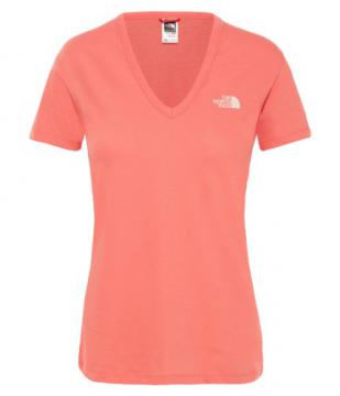 Dome North Shirt Face Simple Coral The Spiced Tee Femme EeoCQrdxBW