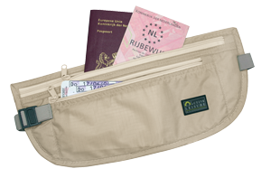 Ceinture Porte Billet Money Belt Light Travel Safe beige